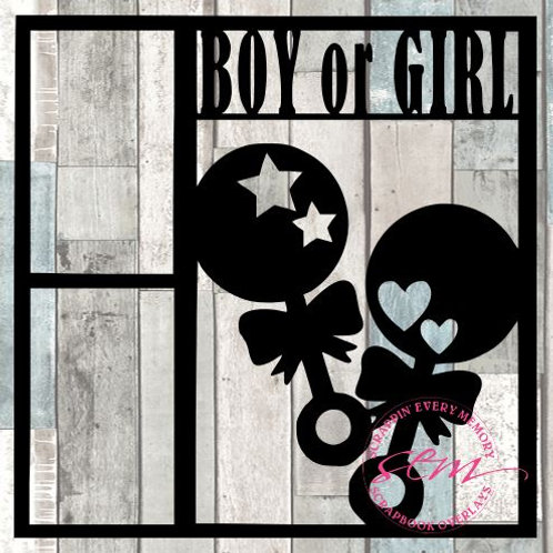 Boy Or Girl Scrapbook Overlay