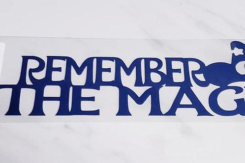 Remember The Magic Scrapbook Deluxe Die Cut