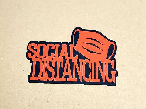 Social Distancing Paper Piecing Die Cut