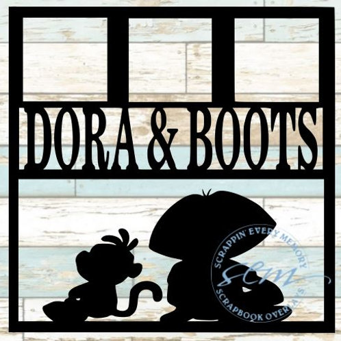 Dora and Boots Scrapbook Overlay
