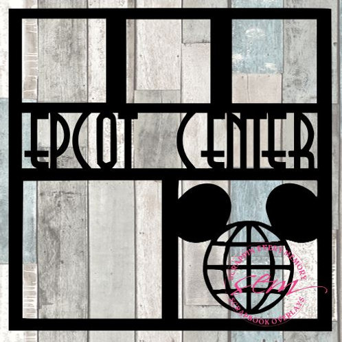 Epcot Center Scrapbook Overlay