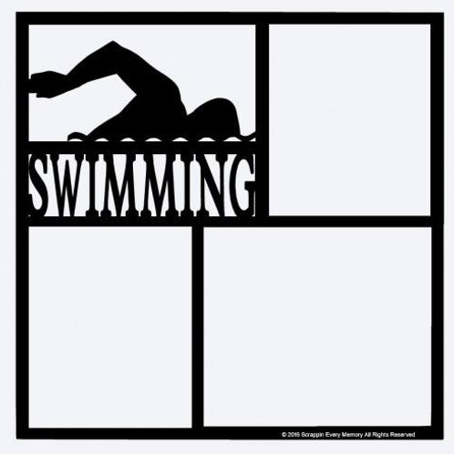 Swimming Scrapbook Overlay