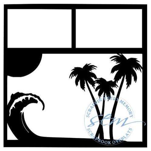 Palm Trees Scrapbook Overlay