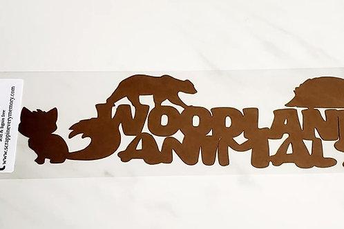 Woodland Animals Scrapbook Deluxe Die Cut