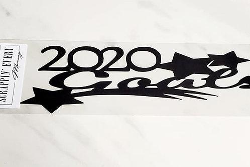 2020 Goals Scrapbook Deluxe Die Cut