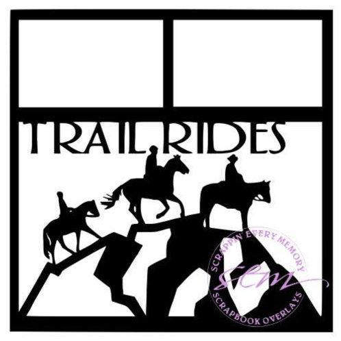 Trail Rides Scrapbook Overlay