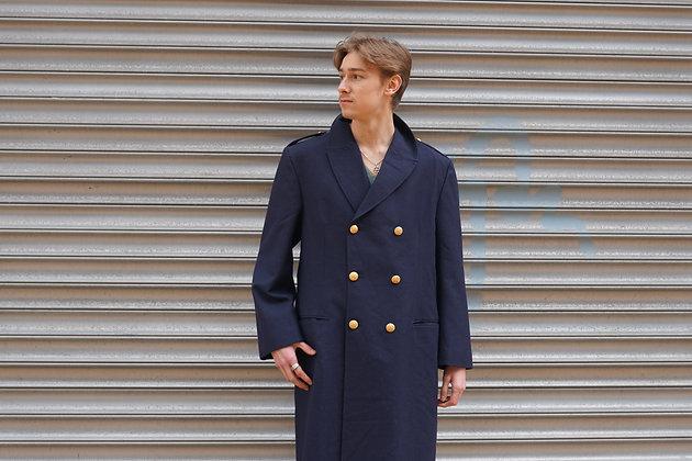 Franse navyblauwe jas L / XL