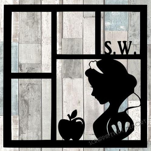 Snow White Scrapbook Overlay