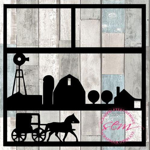 Amish Scrapbook Overlay