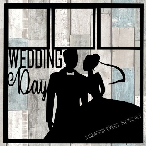 Wedding Day Scrapbook Overlay