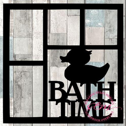 Bath Time Scrapbook Overlay