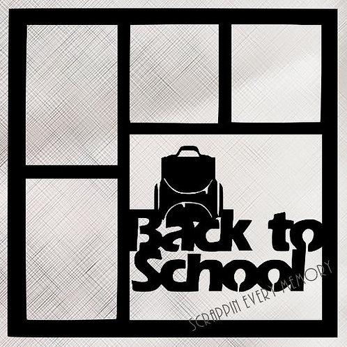 Back To School Scrapbook Overlay