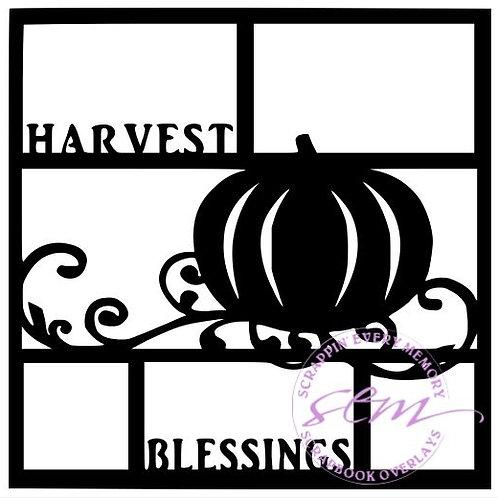 Harvest Blessings Scrapbook Overlay