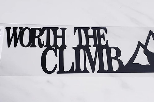 Worth The Climb Scrapbook Deluxe Die Cut