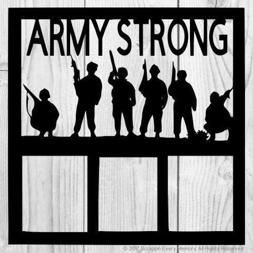 Army Strong Scrapbook Overlay