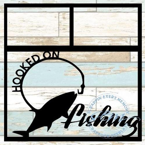 Hooked On Fishing Scrapbook Overlay