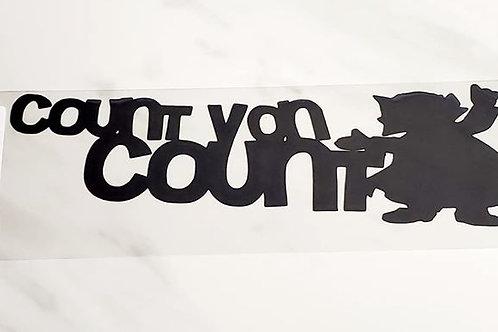 Count Von Count Scrapbook Deluxe Die Cut