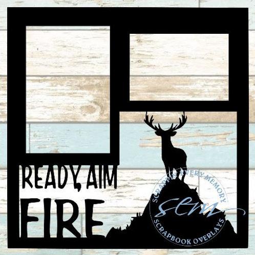 Ready Aim Fire Scrapbook Overlay