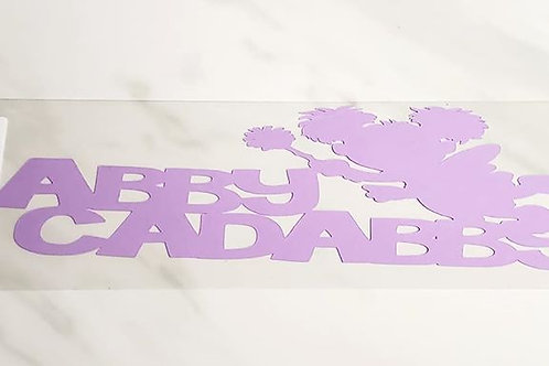 Abby Cadabby Scrapbook Deluxe Die Cut