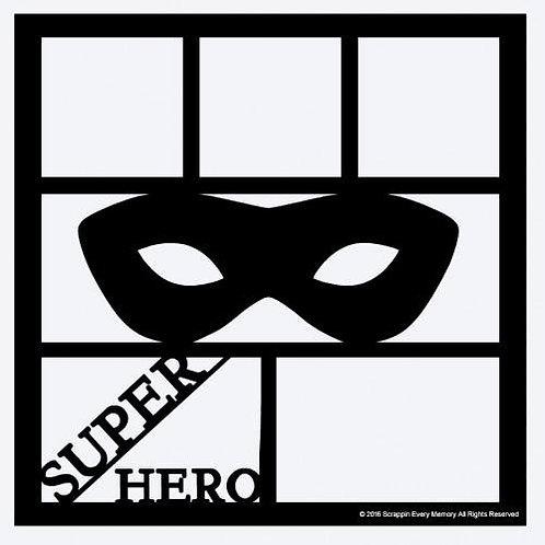 Superhero Scrapbook Overlay