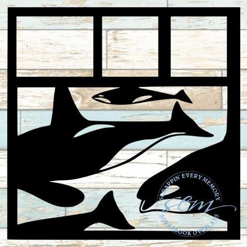 Whales Scrapbook Overlay