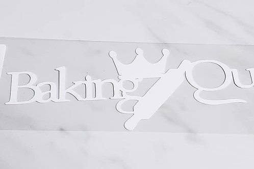 Baking Queen Scrapbook Deluxe Die Cut
