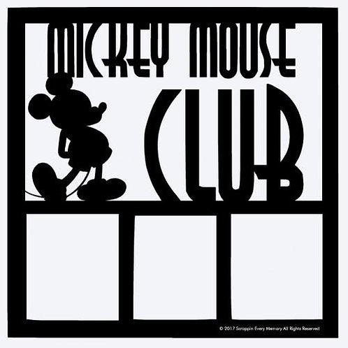 Mickey Mouse Club Scrapbook Overlay