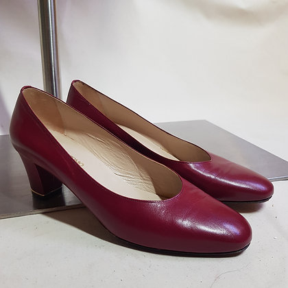 Pumps leder bordeaux rood 38,5