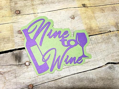 Nine To Wine Paper Piecing Die Cut