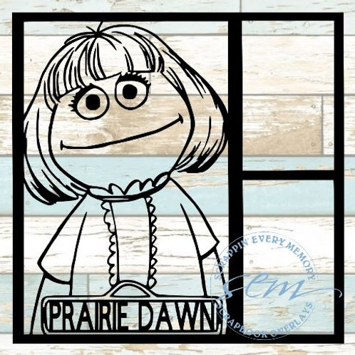 Prairie Dawn Sesame Street Scrapbook Overlay