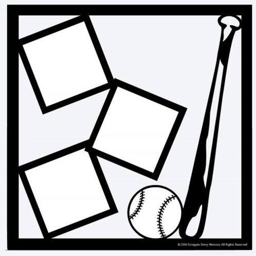 Baseball Scrapbook Overlay