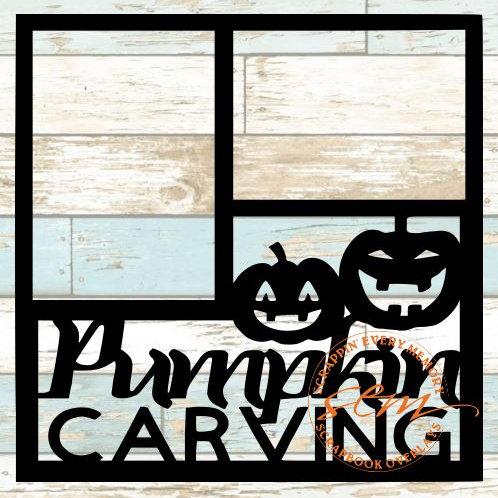 Pumpkin Carving Scrapbook Overlay
