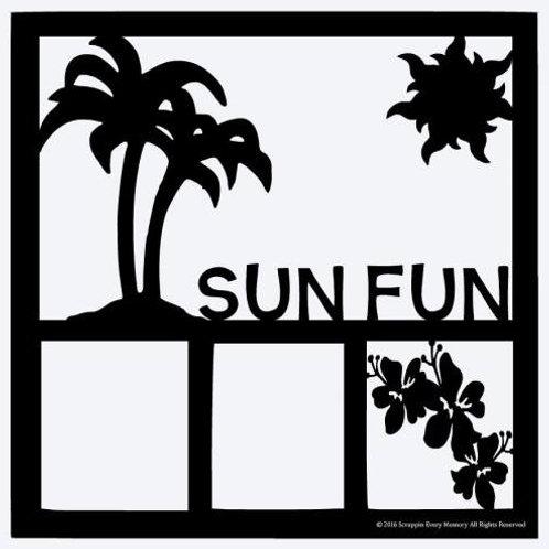 Sun Fun Scrapbook Overlay