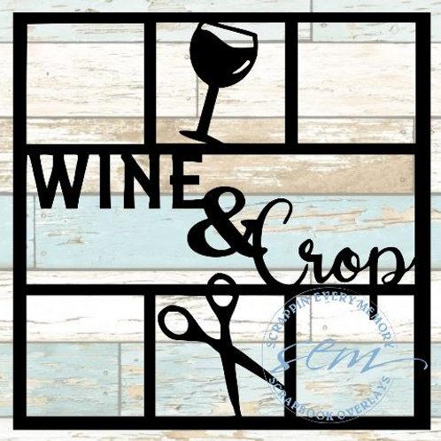 Wine & Crop Scrapbook Overlay