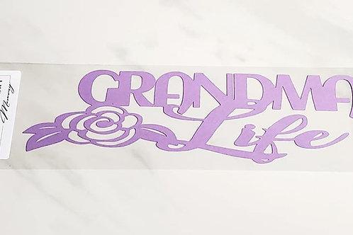 Grandma Life Scrapbook Deluxe Die Cut