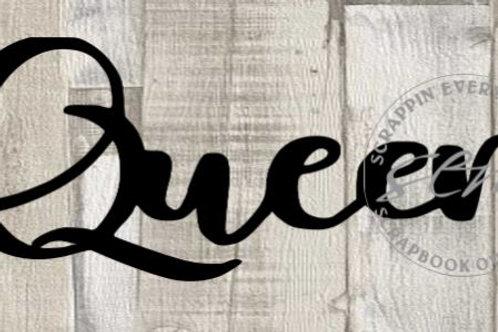 Queen Scrapbook Page Script Single