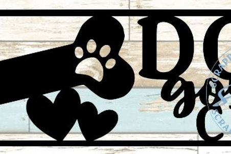 Dog Gone Cute Scrapbook Title