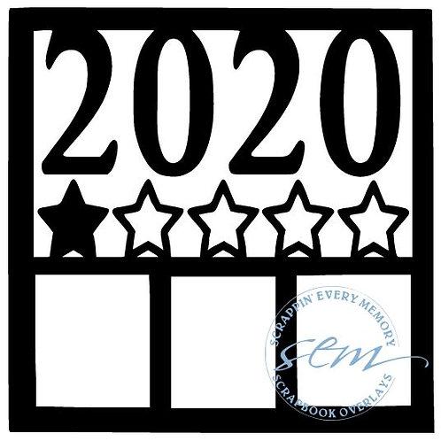 1 Star 2020 Scrapbook Overlay