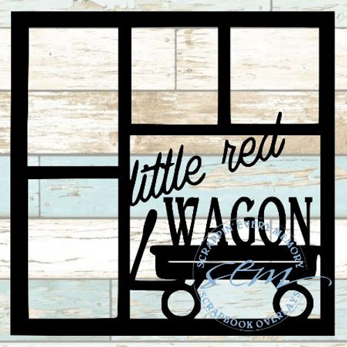 Little Red Wagon Scrapbook Overlay