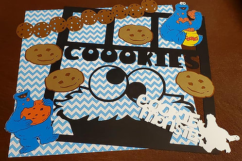 Cookie Monster Scrapbook Page Kits