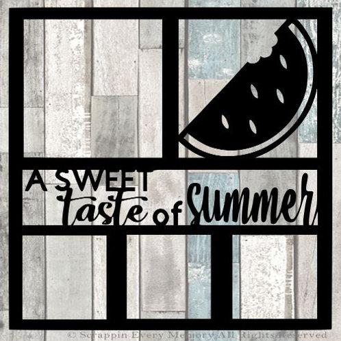 A Sweet Taste Of Summer Scrapbook Overlay