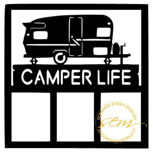 Camper Life Scrapbook Overlay