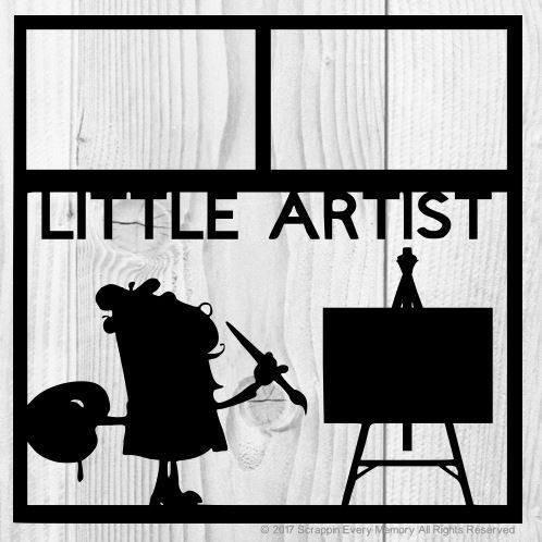 Little Artist Scrapbook Overlay