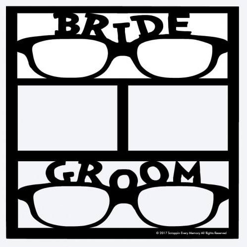 Bride Groom Scrapbook Overlay
