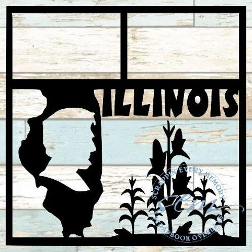 Illinois Scrapbook Overlay