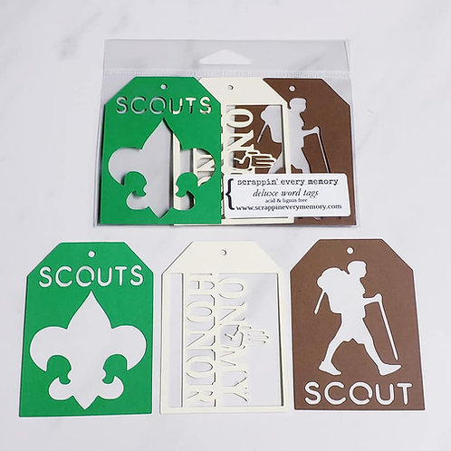 Boy Scouts Deluxe Word Tags
