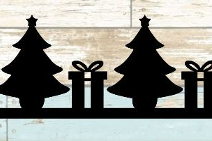 Christmas Tree & Presents Scrapbook Border