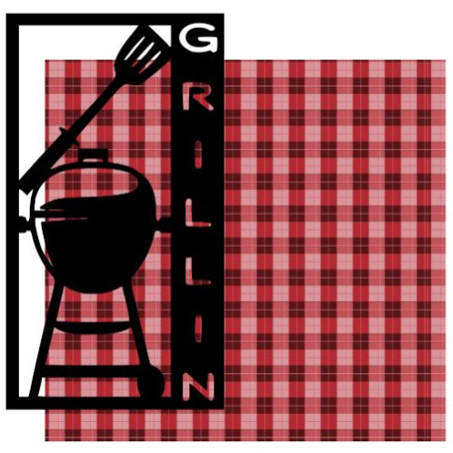 Grillin Vertical Scrapbook Title