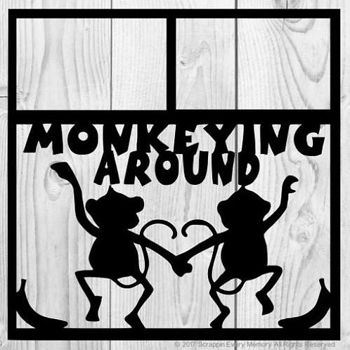 Monkeying Around Scrapbook Overlay