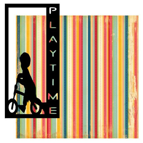 Playtime Vertical Scrapbook Title